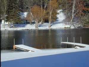 Boat Dock Winter