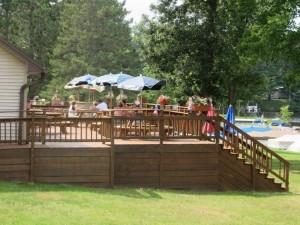 Peshtigo River Resort Deck